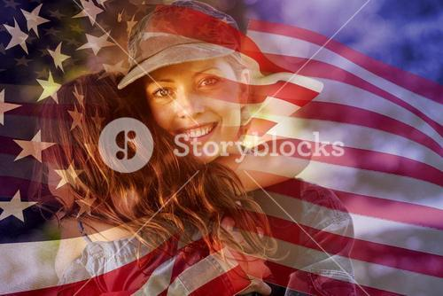 Composite image of focus on usa flag