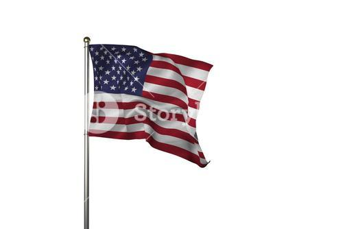 Close up of the us flag