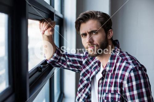 Businessman standing in creative office