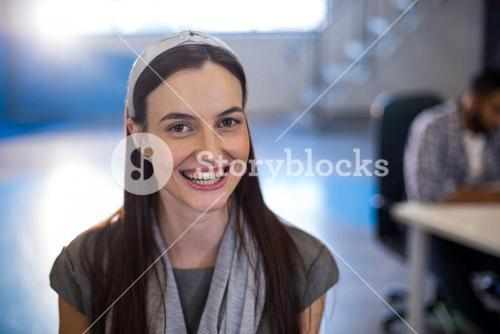 Businesswoman in creative office
