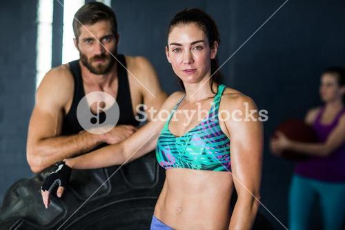 Portrait of serious athletes