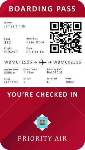 Digital boarding pass