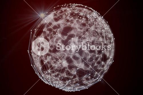 Composite image of abstract sphere