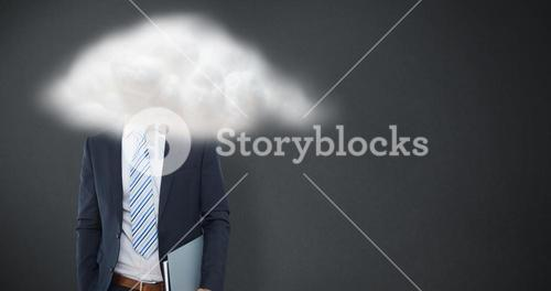 Composite image of happy businessman