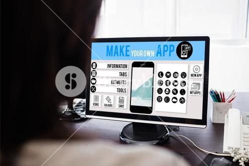 Composite image of make your own app smartphone