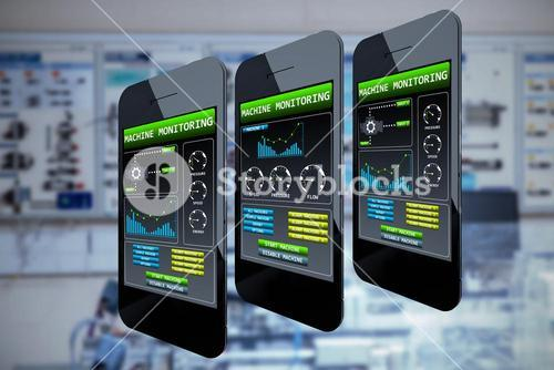 Composite image of smart phone with blank screen