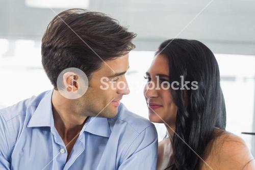 Romantic couple looking at each other