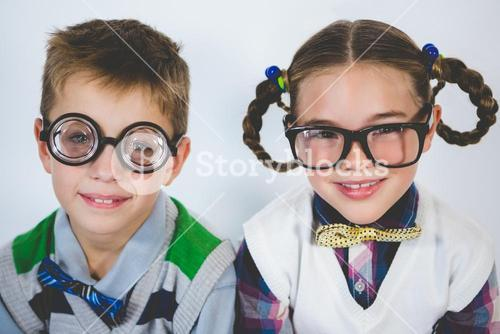 Portrait of smiling kids in classroom