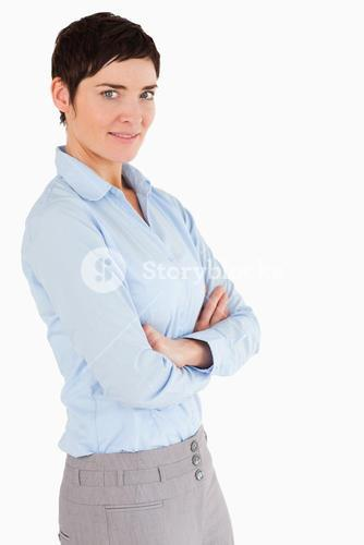 Portrait of a businesswoman with the arms crossed