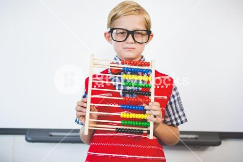 Schoolkid pretending to be a teacher