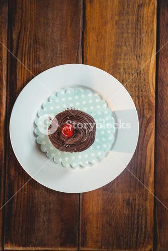 cupcake on plate