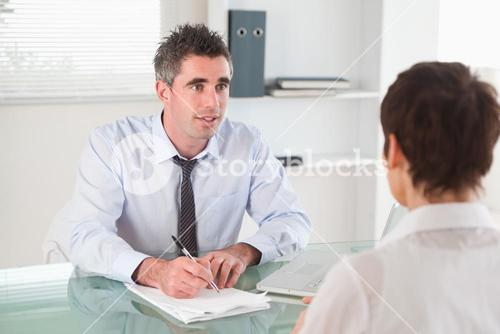 Manager interviewing a candidate