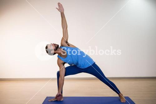 Man performing yoga