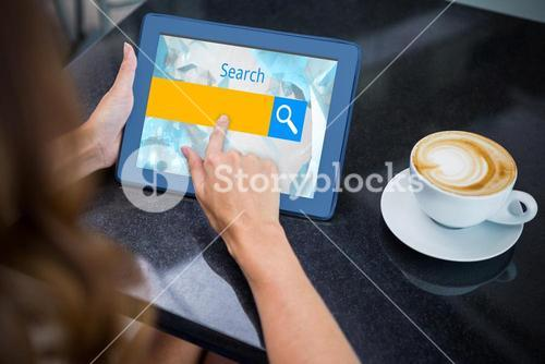 Composite image of logo of a search bar