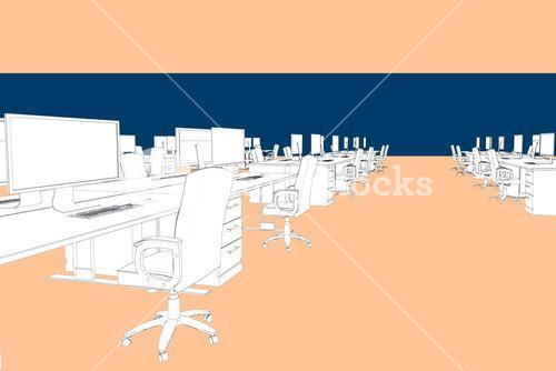 Composite image of draw of an open space