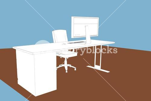 Composite image of draw of a desk