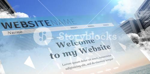 Composite image of composite image of build website interface