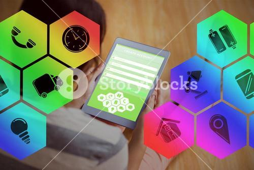 Composite image of smartphone apps icons