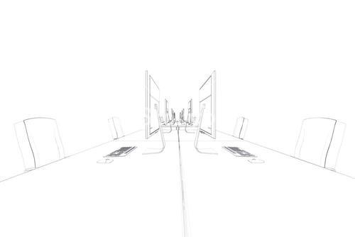 Draw of an open space