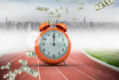 Alarm clock on running track