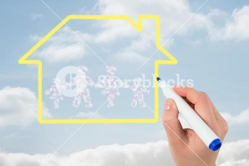 hand drawing family graphic