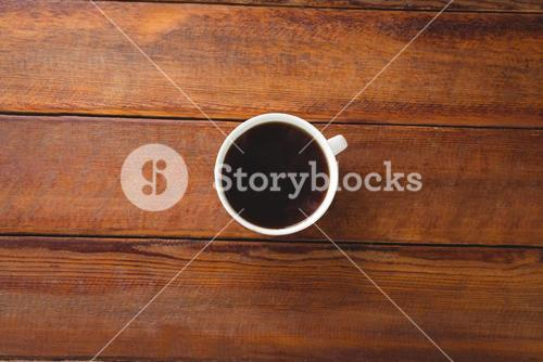 Black coffee on a table