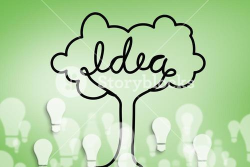 idea tree and light bulbs graphic