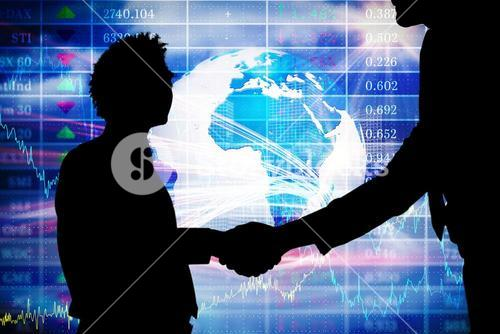 business people with stock background