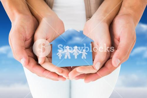 couple hands holding family graphic