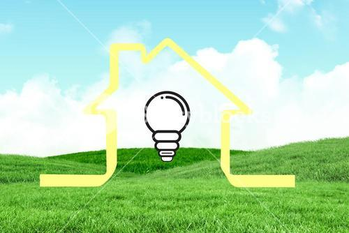 house graphic with lightbulb