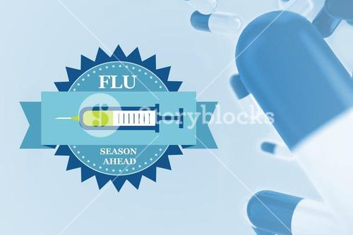 Composite image of fight the flu with pills