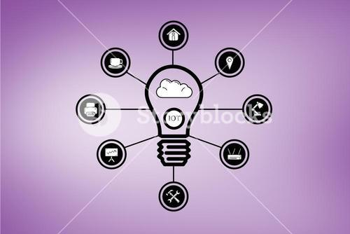 light bulb and business graphic