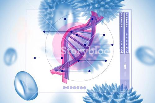 DNA and virus graphic design