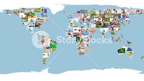 Leisure images forming world map