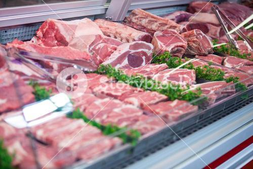 Close-up of meat in display