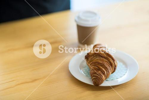 Croissant on plate