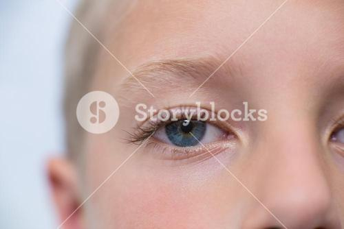 Close-up of young patient eye
