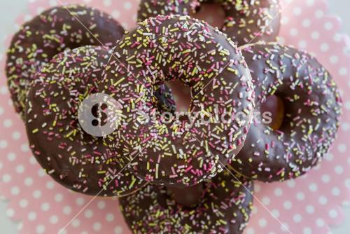 Close-up of doughnuts