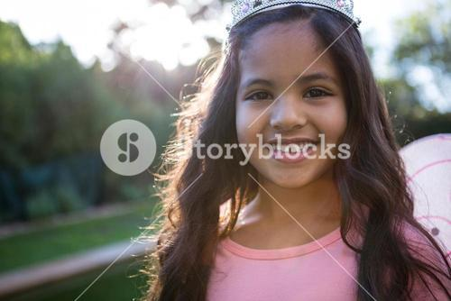 Portrait of girl in tiara