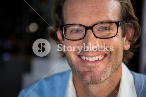 Portrait of businessman in spectacles