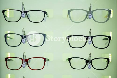 Various spectacles on display