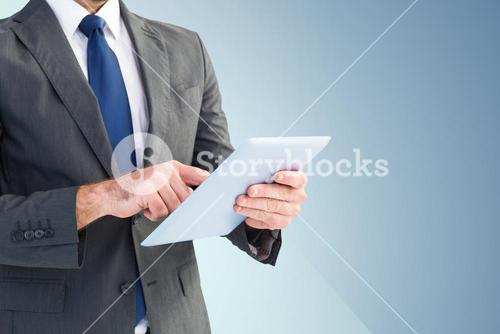 Businessman using a digital tablet
