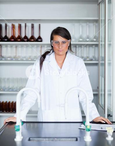 Portrait of a female scientist posing