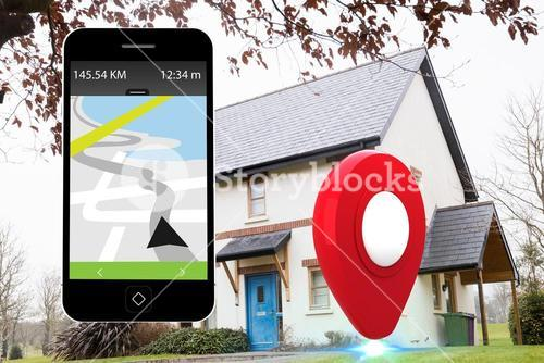 Maps app on a smartphone screen
