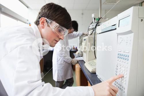 Science student working