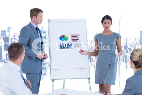 Business people holding a presentation