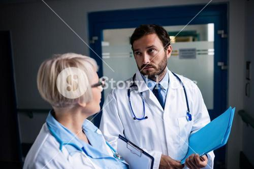 Doctors interacting with each other