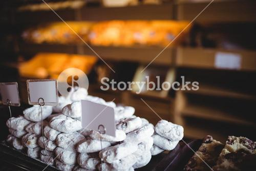 Close-up of sweet foods in bakery shop