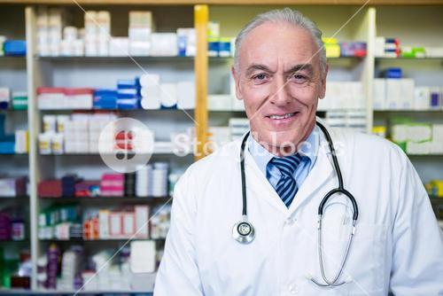 Pharmacist with a stethoscope