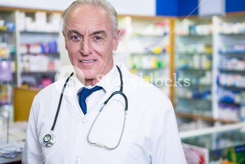 Pharmacist in lab coat